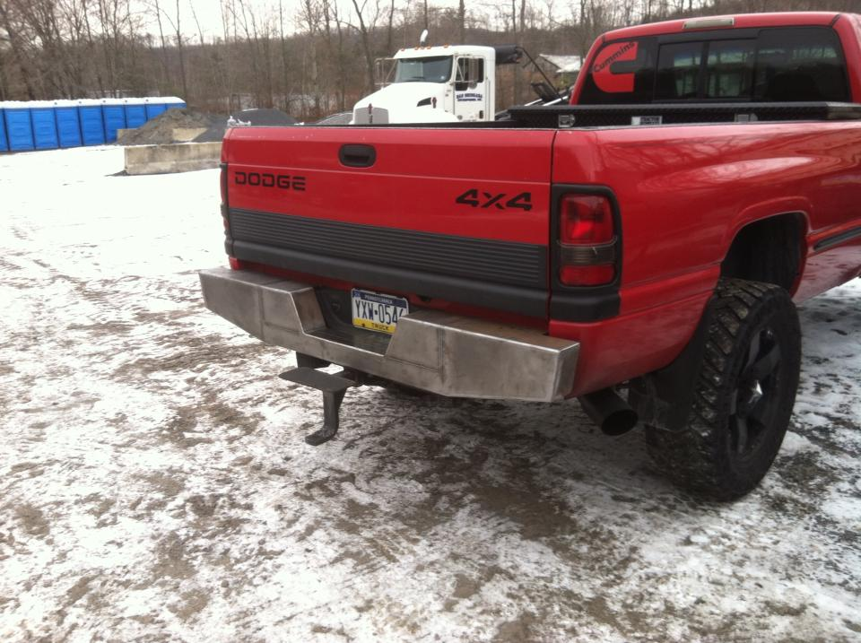 Elite Rear Bumper Dodge Ram Truck 93 02 Affordable
