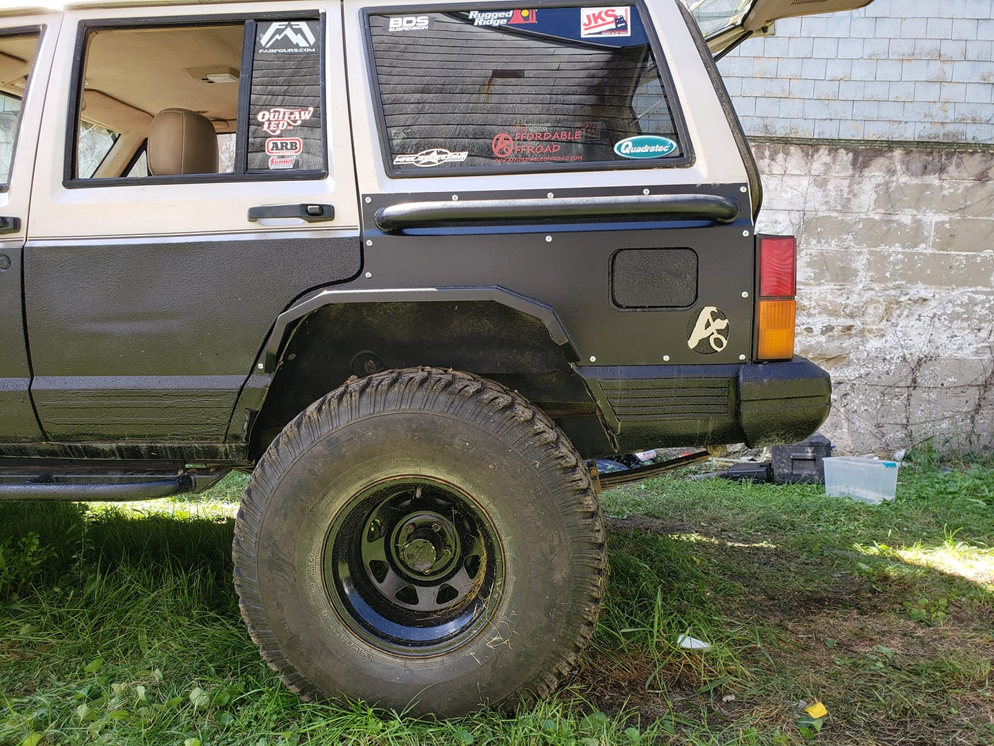 Front And Rear Elite Steel Fender Flares Jeep Cherokee Xj 2 And 4