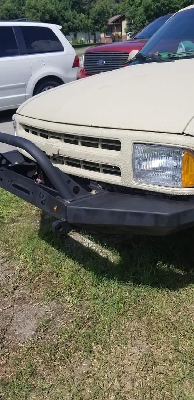 Elite Chevy S-10 / Blazer Modular Plain Front Winch Bumper 1994-2005