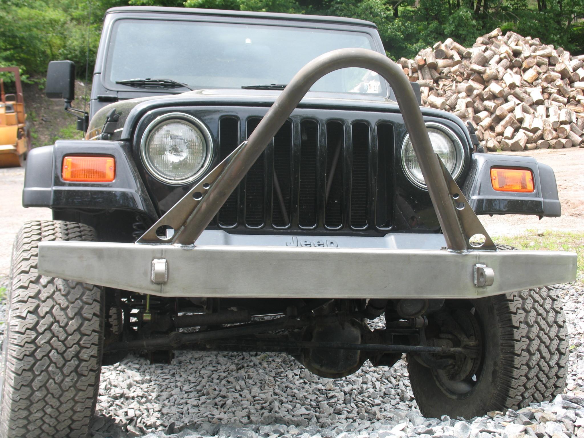 Elite Stinger Front Bumper - Jeep CJ/YJ/TJ/LJ ('54-'06) - Affordable Offroad