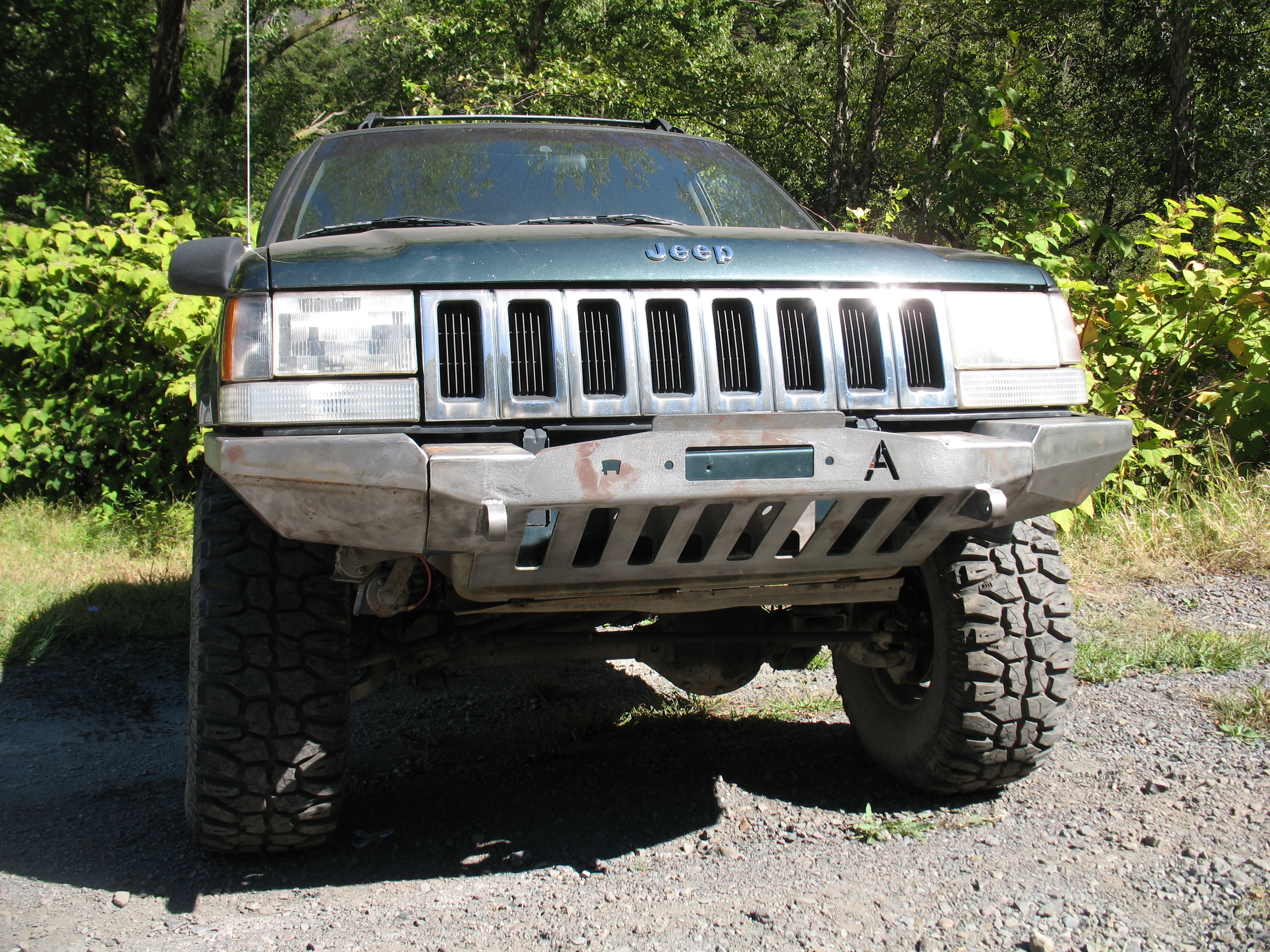 Elite Jeep Grand Cherokee ZJ Modular Plain Front Winch Bumper ('93