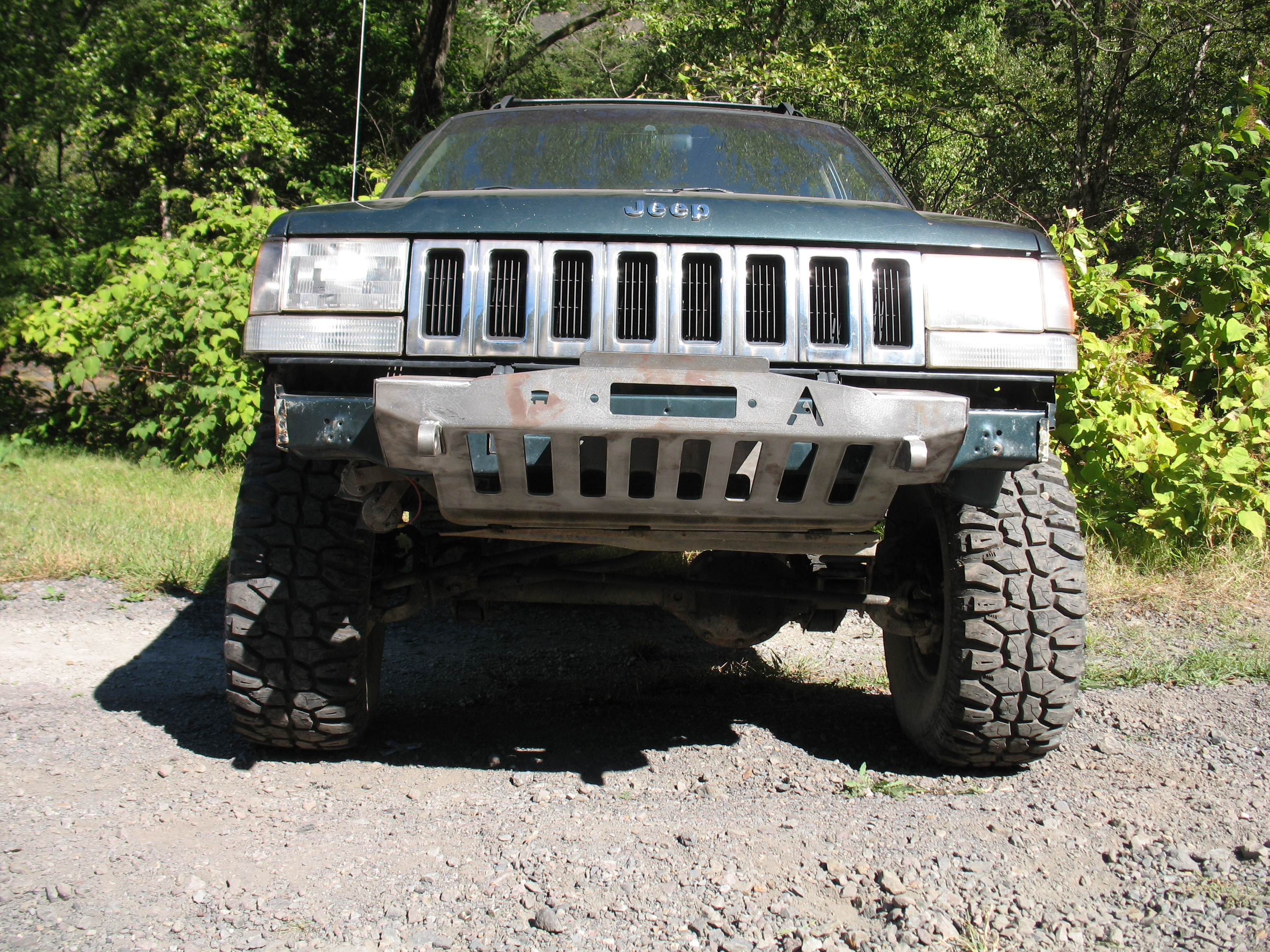 Elite Jeep Grand Cherokee Zj Modular Shorty Plain Front Winch Bumper 93 98 Affordable Offroad
