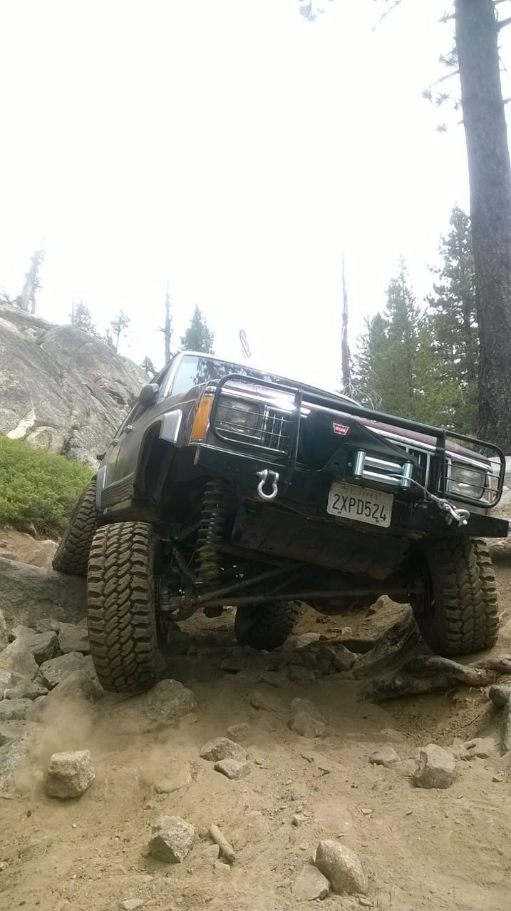Elite Brush Guard Winch Front Bumper-Jeep Cherokee XJ ...