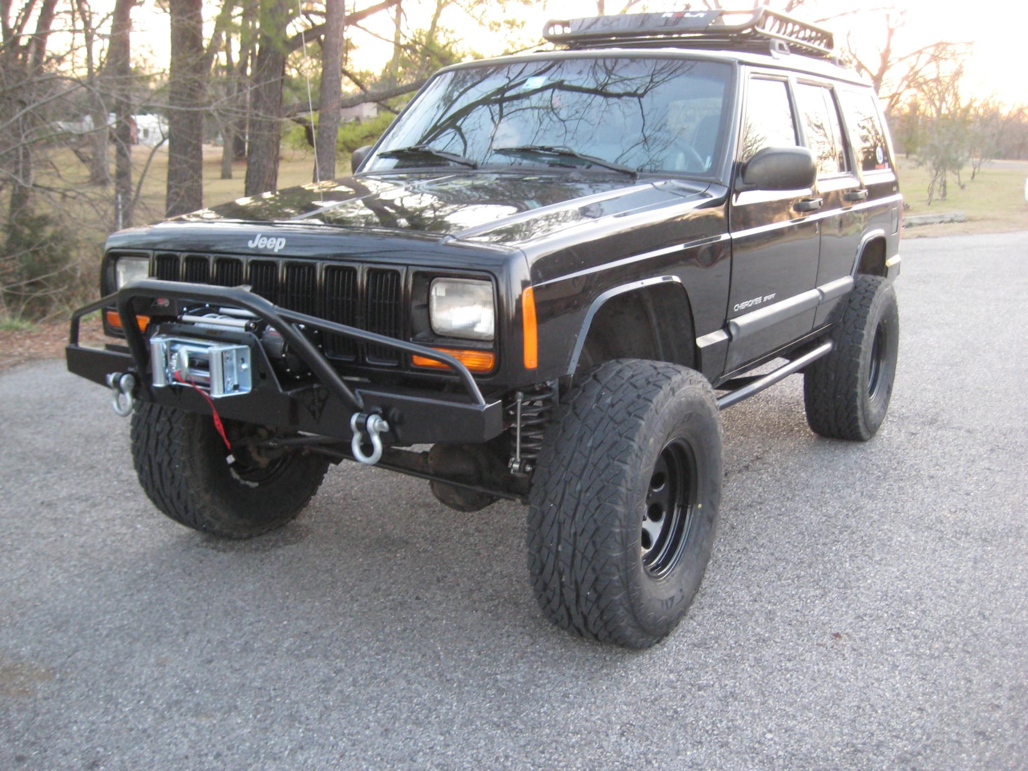 Road Rhino Bumper >> Elite PreRunner Winch Front Bumper-Jeep Cherokee XJ/Comanche (84-01) - Affordable Offroad