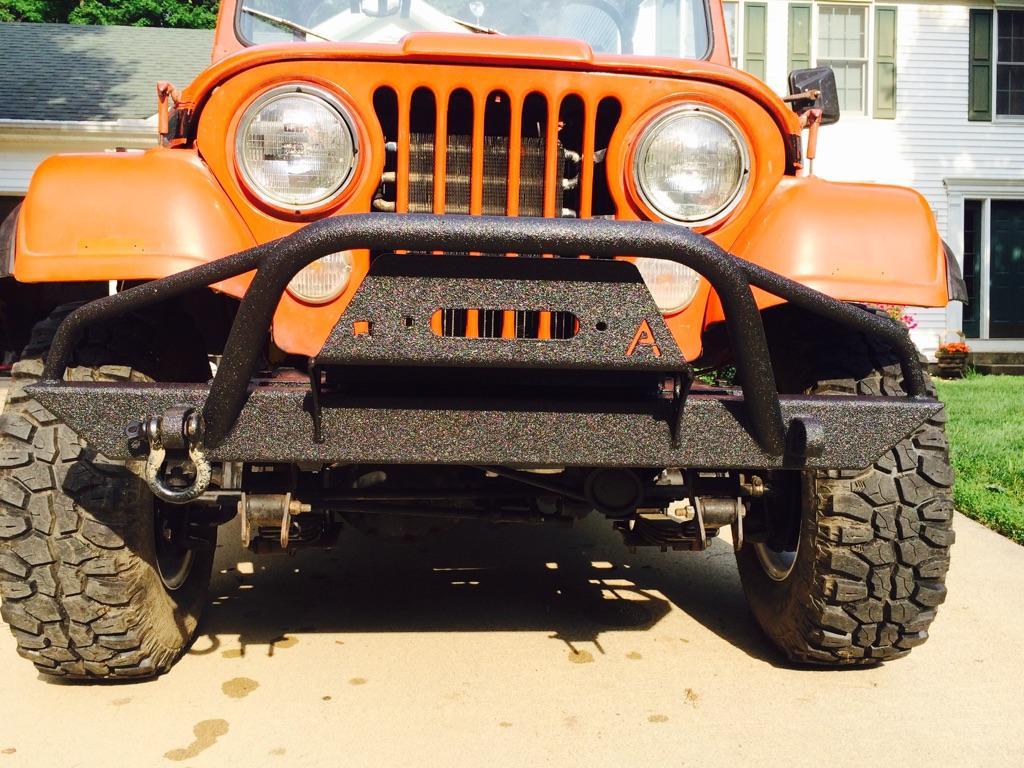 affordable front winch and rear bumper set jeep cj yj tj lj (\u002754 \u002706) Original Front Bumper Jeep Scrambler